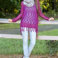 Only In My Dreams Sweater-Plum