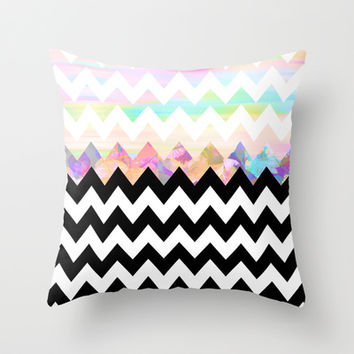 White Magic Throw Pillow by Ornaart