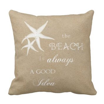 Beach Happy Place Sand Pillow