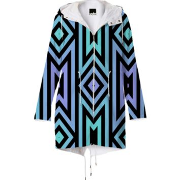 Lilac/Teal Tribal Womens Raincoat created by Lyle58 | Print All Over Me