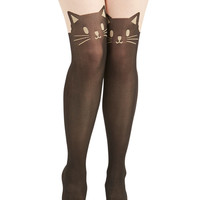 ModCloth Quirky Wherefore Art Thou, Ro-meow? Tights