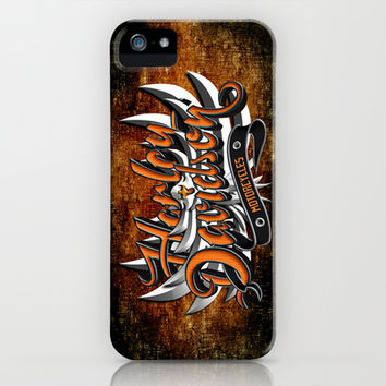 Street Bikers Typograph with eagle apple iPhone 4 4s, 5 5s 5c, 6, iPod & samsung galaxy s4 case