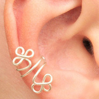 Celtic Clever Ear Cuff Silver Color