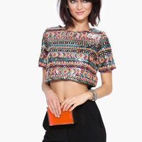 Sequin Aztec Top