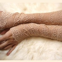 My Second Sand Skin Lace Cuffs by Moonalia on Etsy