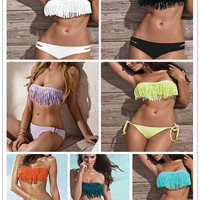 Boho Fringe Bikinis (TOP&amp;BOTTOM)
