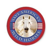 Save America's Wild Horses Stickers from Zazzle.com