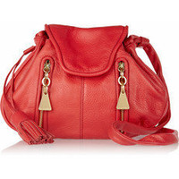 See by Chloé | Cherry textured-leather shoulder bag | NET-A-PORTER.COM