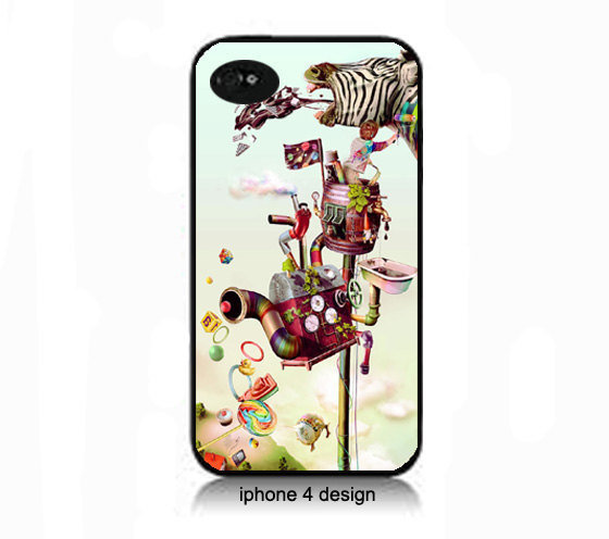 Abstract Zebra design iphone 4 case, geekery