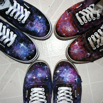 Galaxy Shoes (Painted Vans) - MADE TO ORDER