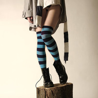 RUGBY GIRL Striped Overknees