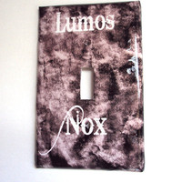 Magical Lumos Nox Light Switch Cover Teenage Room Decor Smokey Black