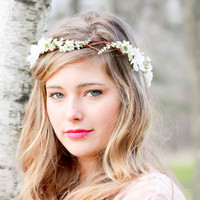 bridal hair acessories, wedding headpiece, woodland flower, bridal hair flower, rustic wedding