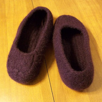 Felted Slippers Knit Blackberry Women Men Children