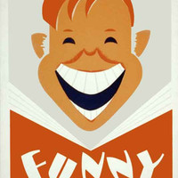 Funny Side Up Vintage WPA Reading Poster on 8x12 PopMount Ready to Hang FREE SHIPPING