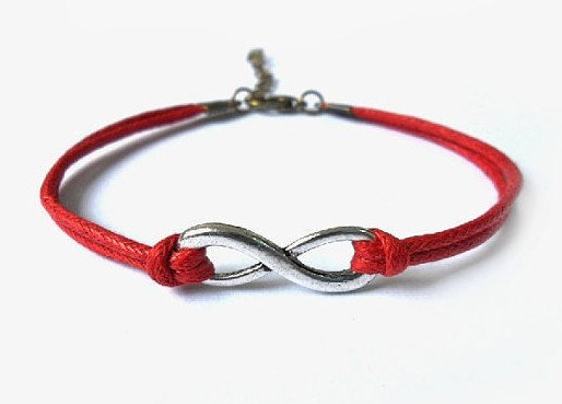 jewelry bangle vintage bracelet,silvery infinity wish red ropes bracelet, women's ropes bracelet 565A