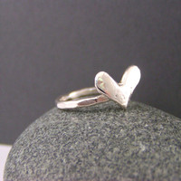 Sterling Silver, Fancy Heart, Ring