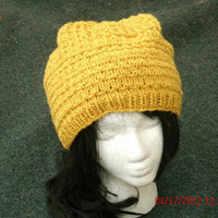 CIJ - Hand Knit Hat - The Twist - Unisex Hat - Fall, Winter, Spring Accessories - Christmas in July