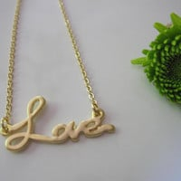 Gold Love Necklace Silver Blossom Necklace - Summer Wedding - Simple and Classic Daughter Sister Mother Friend Gift