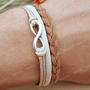 Infinity bracelet-karma infinity bracelet for friends, gift for boyfriend, girlfriend