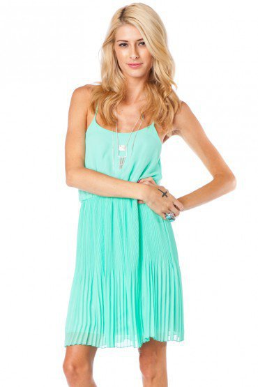 Leah Dress in Mint - ShopSosie.com