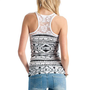 aztec-print-lace-back-tank BLACK - GoJane.com