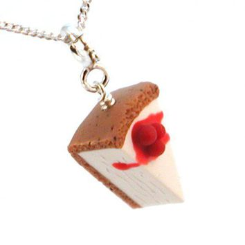 Cherry Cheesecake Necklace - Whimsical & Unique Gift Ideas for the Coolest Gift Givers
