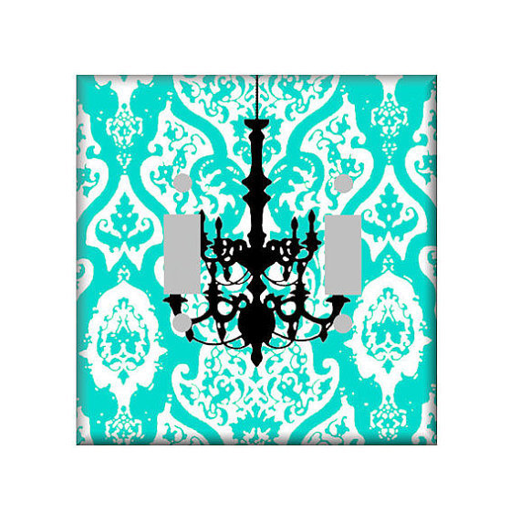 Shabby Chandelier Switchplate Art Cover