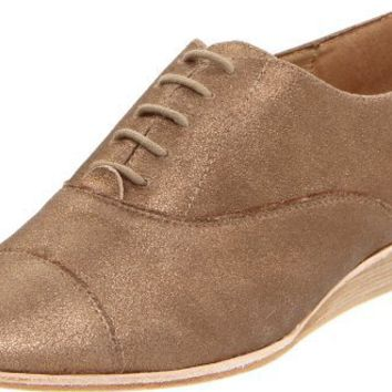 Matt Bernson Women`s Exeter Oxford,Bronze Crackle Suede,7 M US