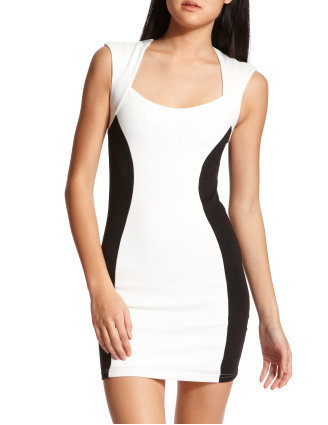 Color Block Ponte Pencil Dress