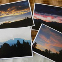 Sunrises and Sunsets 4 Photo Note Cards - Fine Art Photography
