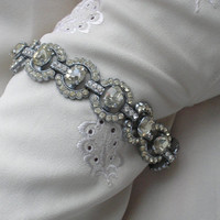 1930s Art Deco Diamante Tennis Bracelet