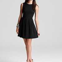 Aqua Ponte Dress - Box Pleat | Bloomingdale's