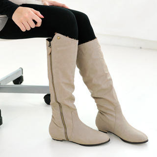 YESSTYLE: 59 Seconds- Faux Leather Tall Boots - Free International Shipping on orders over $150