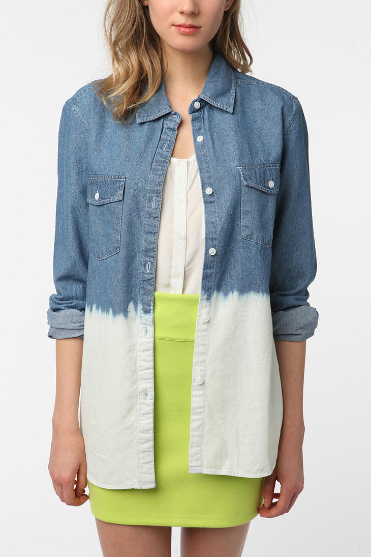byCORPUS Dip-Dyed Chambray Button-Down Shirt