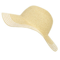 Lurex Striped Floppy Hat | Shop Junior Clothing at Wet Seal