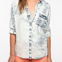 byCORPUS Acid Wash Button-Down Shirt