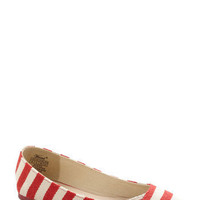 Ready or Naut Flat in Cherry | Mod Retro Vintage Flats | ModCloth.com