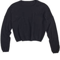 Long-Sleeve Drop Shoulder Sweater