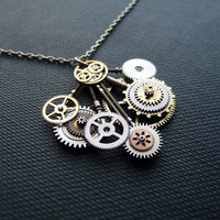 Clockwork Pendant Thunder Mechanism Intricate by amechanicalmind