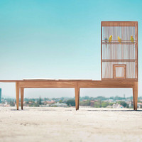 valentin garal: family bench for le porc shop