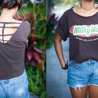 vintage milky way cut out shirt