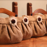 Rustic Burlap Wedding Purses