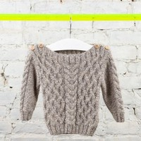 Handknit Aran Sweater - K-F11-01 | Thomas Sires