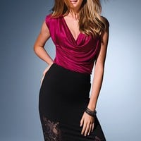 Lace-trim Pencil Skirt - Victoria's Secret