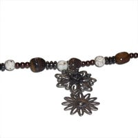 Steampunk Glass and Stone Charm Bracelet