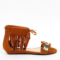 Topnotch Fringe Beaded Sandals
