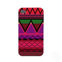 Neon Pink Tribal Case-mate Iphone 4 Case from Zazzle.com