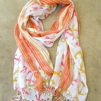 Come Sail Away Anchor Scarf [2257] - $9.00 : Vintage Inspired Clothing & Affordable Summer Dresses, deloom | Modern. Vintage. Crafted.