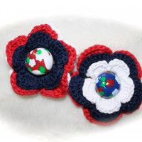 Crochet Flowers With Polymer Clay B.. on Luulla